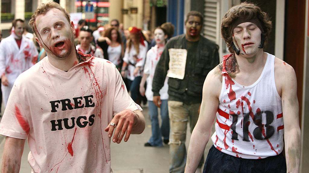 Zombie Fleshmob Takes To The Streets